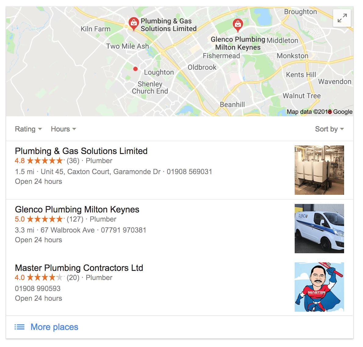 Local SEO Google Results