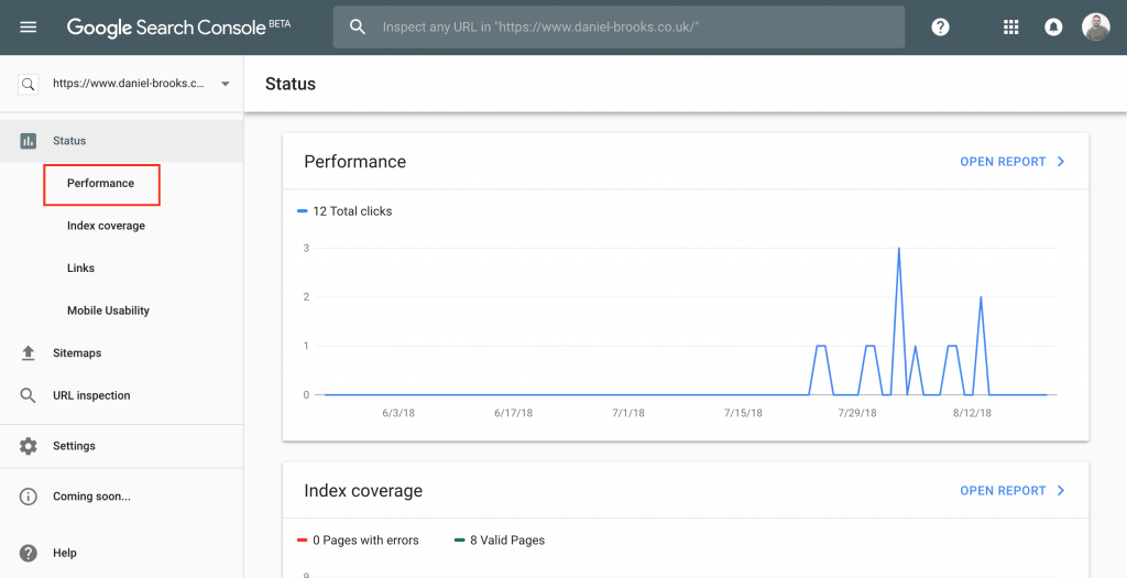 Google Search Console Step One
