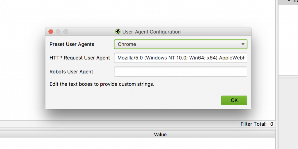 Setting The User Agent